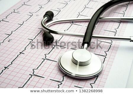Estetoscópio medicina ciência vida gráfico Foto stock © designers