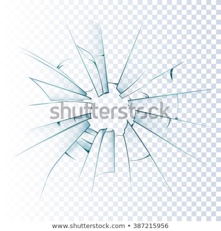窓 割れたガラス 抽象的な 背景 青 パターン ストックフォト © Evgeny89
