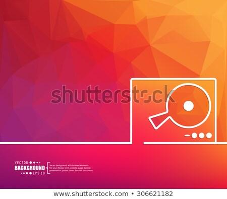Döner tabla konsol mikser vektör dizayn örnek Stok fotoğraf © RAStudio