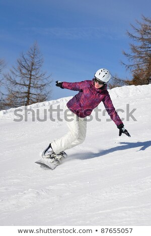 beautiful girl in helmet with mountain ski sport stock photo © aleksangel