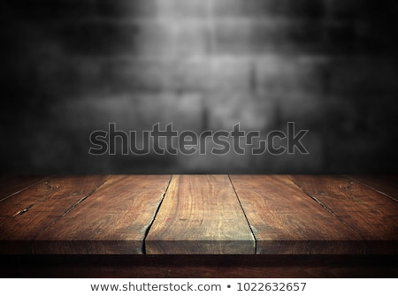 empty brown top wooden table with concrete wall background stock photo © punsayaporn