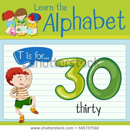 Flashcard letter T is for thirty Stock photo © bluering