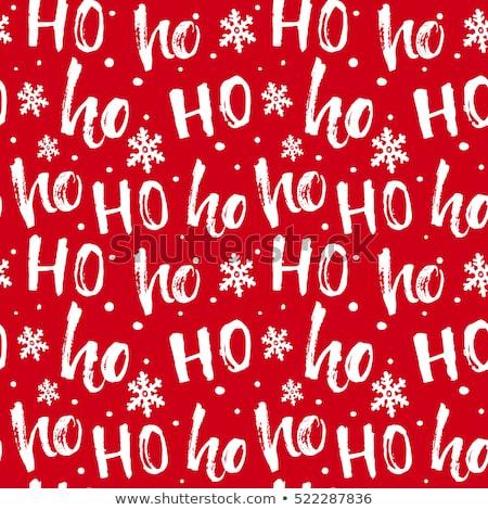 ストックフォト: シームレス · 陽気な · クリスマス · パターン · セット