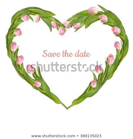 tulip save the date card eps 10 stock photo © beholdereye