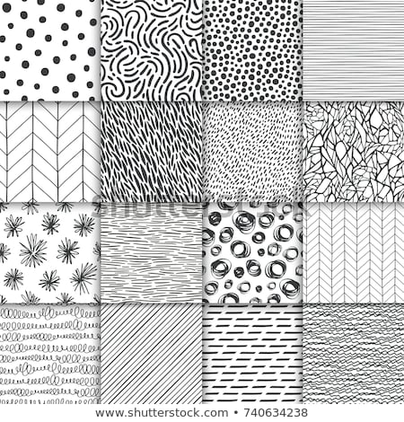 Vector Seamless Black and White Hand Drawn Diagonal Lines Pattern Stock photo © CreatorsClub