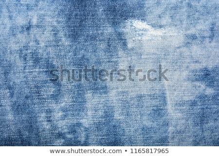 Blauw · denim · jeans · textuur · weefsel · achtergrond - stockfoto © sarts