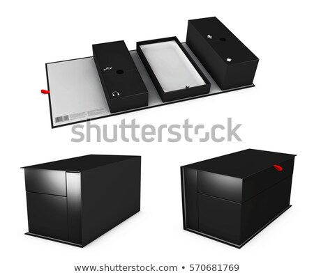 Illustration of Three realistic empty software boxes with sections for your product Stock photo © tussik
