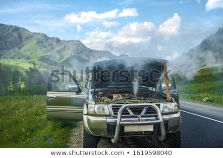 broken steaming car Stock photo © OleksandrO