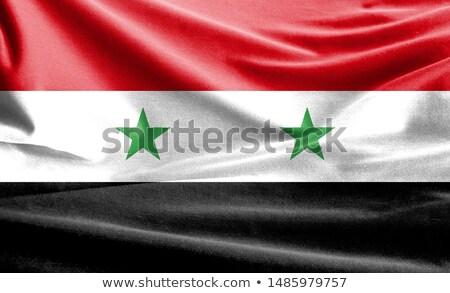 bandeira · Síria · esfera · isolado · branco - foto stock © oakozhan