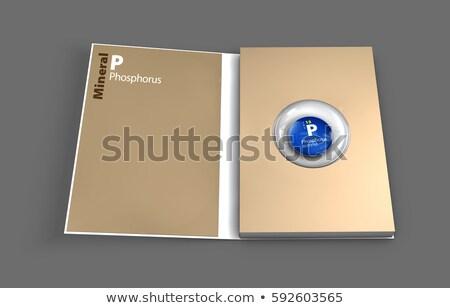 Vázlat könyv ásvány illusztráció 3d illusztráció étel Stock fotó © tussik