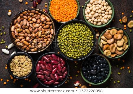 Hülsenfrüchte Mischung Bohnen Erbsen Küche Stock foto © lidante