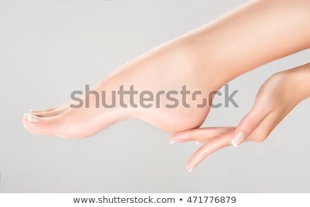 woman foot and hands stock photo © nobilior
