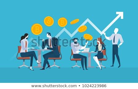 Pénztárca védelem ikon terv üzlet izolált Stock fotó © WaD