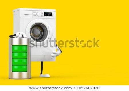 Batterien · Haufen · gelb · isoliert · weiß · Hintergrund - stock foto © capturelight