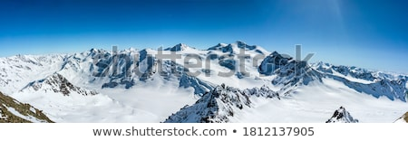 Landscape of snowy mountains Stock photo © bbbar