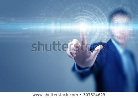 サイバースペース · 人 · 男 · 着用 · バーチャル · 現実 - ストックフォト © dolgachov