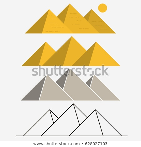 Egypt Pyramids, Giza Landscape. Outline vector Stock photo © Andrei_