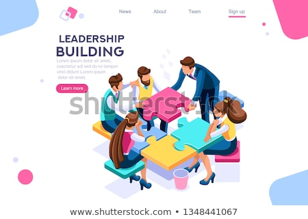 Team leader concept illustration Stock photo © orson