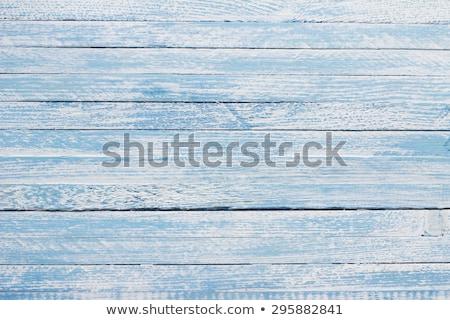 Stock fotó: Light Blue Vintage Wood Texture Top View Wooden Board