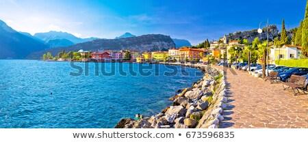 Riva del Garda old waterfront view Stock photo © xbrchx