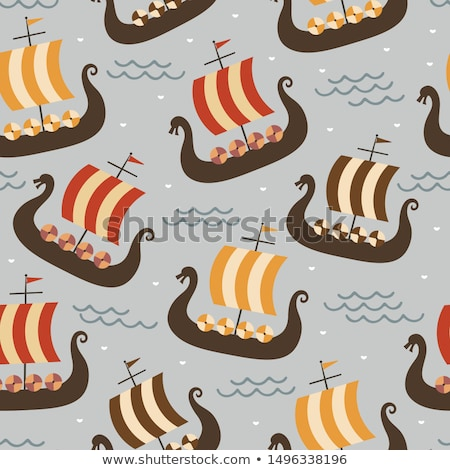 Children and viking ship Stock photo © bluering