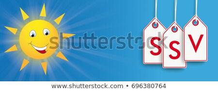 sun price stickers ssv header stock photo © limbi007