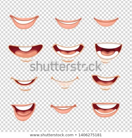 lábios · vermelhos · conjunto · coleção · nove · diferente - foto stock © nikodzhi