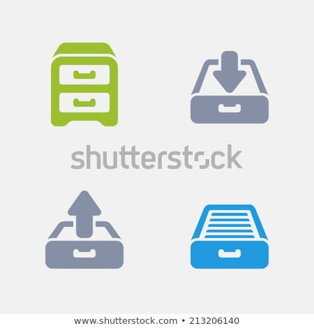 Filing Cabinet - Granite Icons stock photo © micromaniac