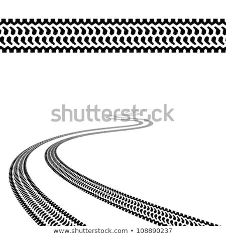 Zdjęcia stock: Repeating Tire Tracks