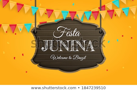 festa junina background with colorful garlands stock photo © sarts