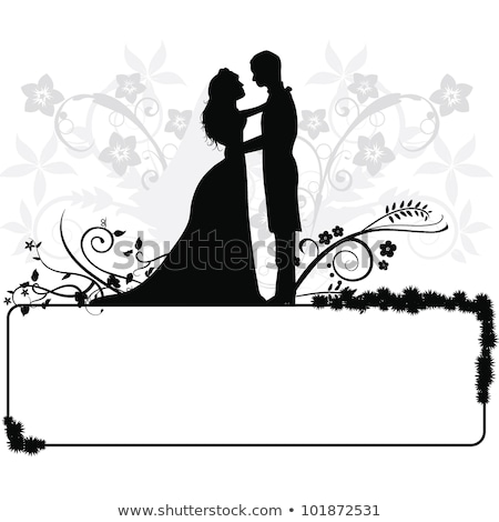 wedding concept bride and groom silhouette stock photo © krisdog