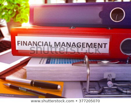 financial management on red office folder toned image stock photo © tashatuvango