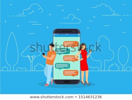 Mobile Phone Flat Raster Icon Stock photo © ahasoft