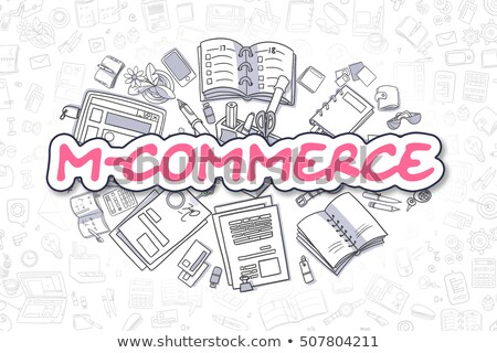 Internet Banking - Doodle Magenta Word. Business Concept. Stock photo © tashatuvango