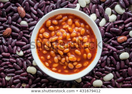 handful of of beans in tomato Stock photo © Digifoodstock