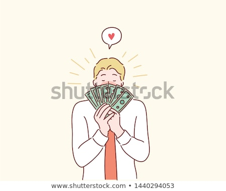 rijke · man · illustratie · dollar · valuta - stockfoto © maryvalery