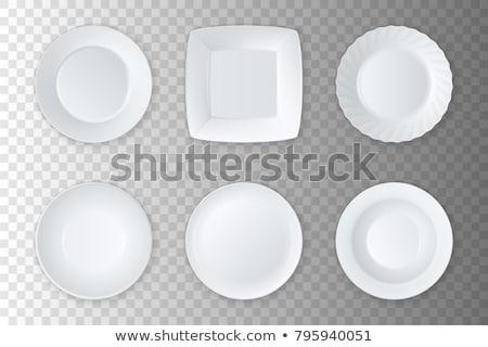 Realistisch plaat vector porselein omhoog Stockfoto © pikepicture