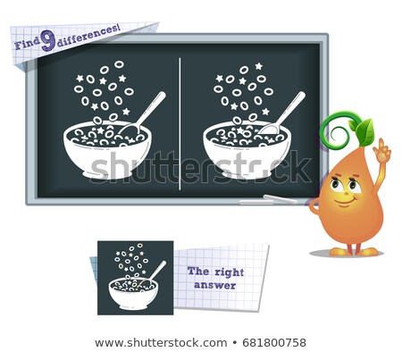 game find 9 differences cereals Stock photo © Olena