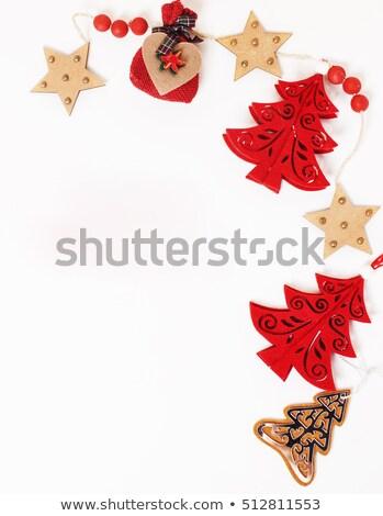 Noël décoration isolé blanche post carte Photo stock © iordani