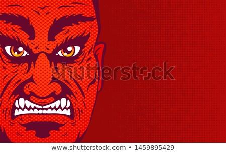 Baas boos Rood zakenman kwaad zakenmannen Stockfoto © popaukropa