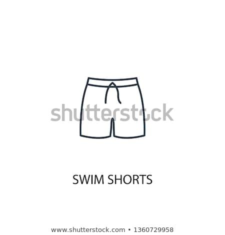 projeto · ícone · natação · homem · cabeça · óculos · de · proteção - foto stock © rastudio