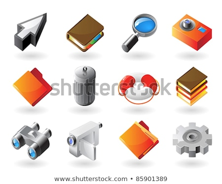 Photo realistic magnifier in 3d isometric, vector illustration. Stock photo © kup1984
