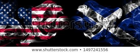Voetbal vlammen vlag Schotland zwarte 3d illustration Stockfoto © MikhailMishchenko