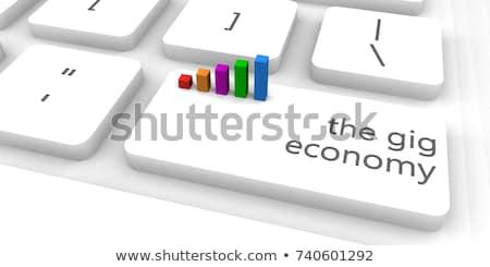 решения клавиатура ключевые 3d визуализации стороны Сток-фото © tashatuvango