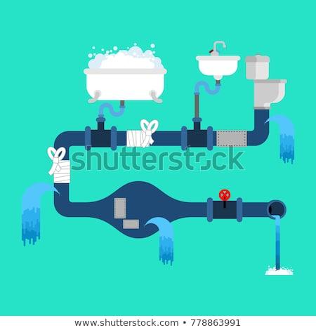 drain · pijp · geïsoleerd · riolering · water · leveren - stockfoto © maryvalery