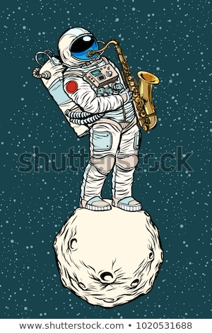 астронавт джаза пространстве саксофон музыкальный музыкальный инструмент Сток-фото © studiostoks