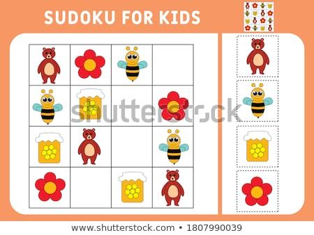 Puzzle griglia ragazzi facile educativo Foto d'archivio © adrian_n
