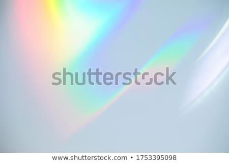Szivárvány irodaszer retro copy space felirat űr Stock fotó © milsiart