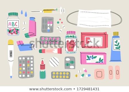 medical equipment vector cartoon illustrations set stock photo © rastudio
