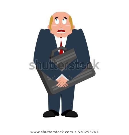 Zakenman geval angst baas geld cash Stockfoto © popaukropa